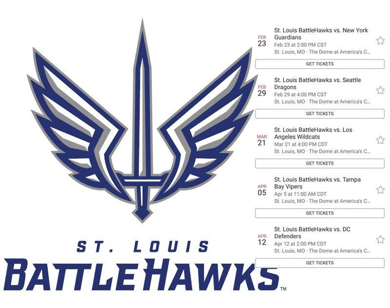 St. Louis BattleHawks Home Schedule Leak?