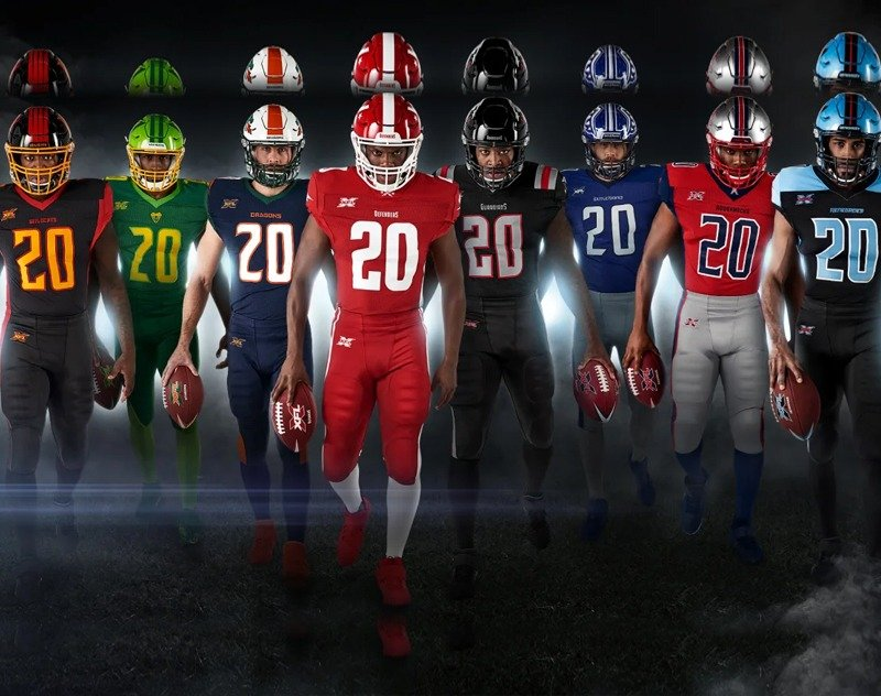XFL Officially Reveals All Eight Team Uniforms