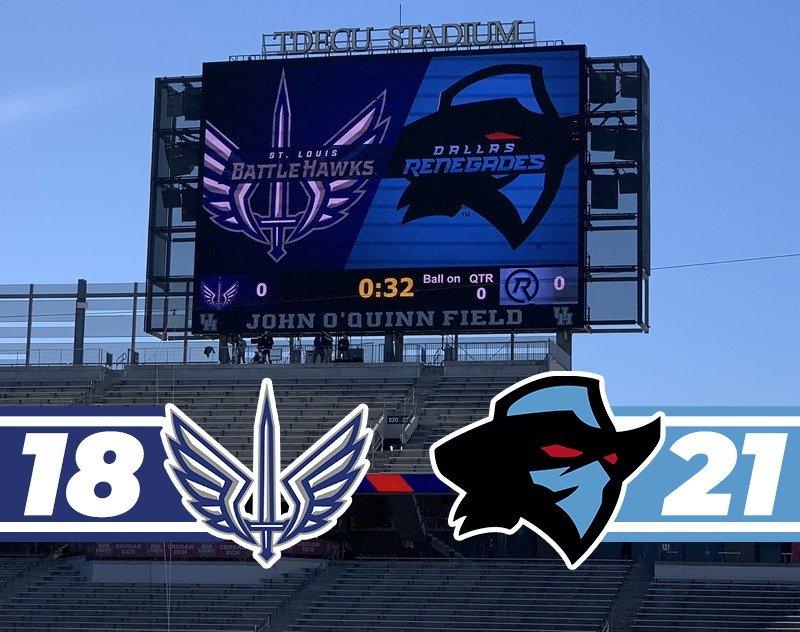 Preseason Recap: St. Louis BattleHawks vs Dallas Renegades