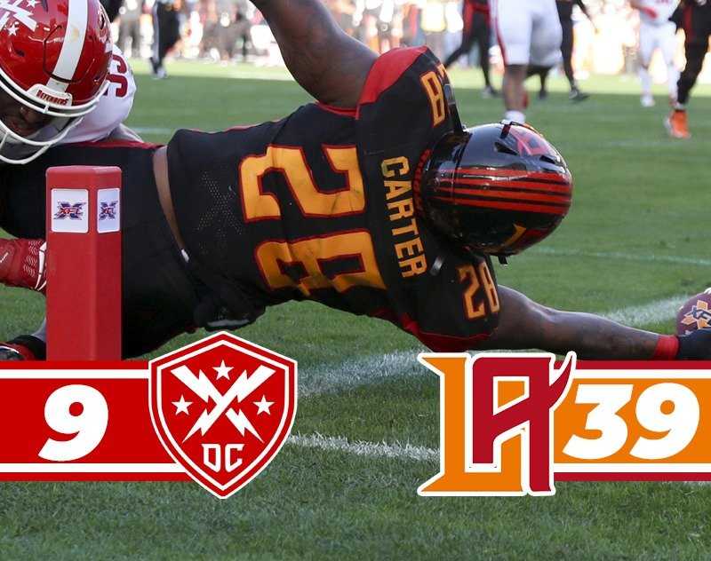 Los Angeles Wildcats Shock the DC Defenders for First Win 39-9