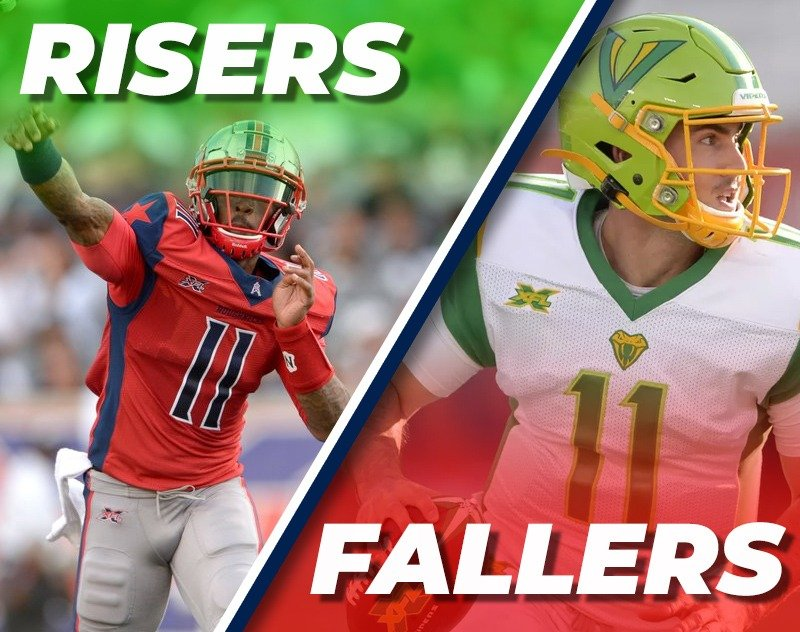 XFL Week 1 Fantasy Risers and Fallers from A&A Fantasy Football