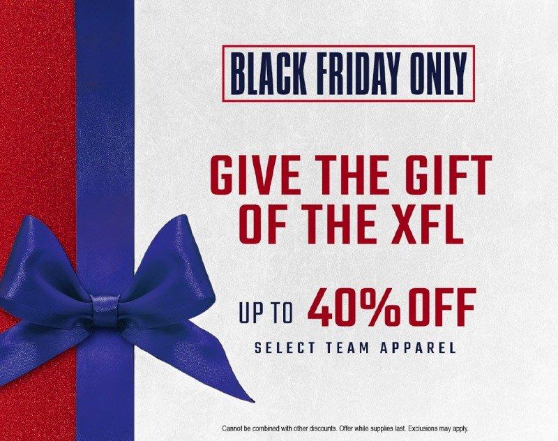 XFL Re-Stocks Web Store — Announces 2020 Black Friday Sale