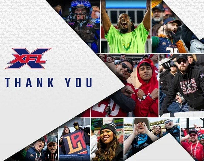 XFL Leadership Thank Fans in Thanksgiving Letter