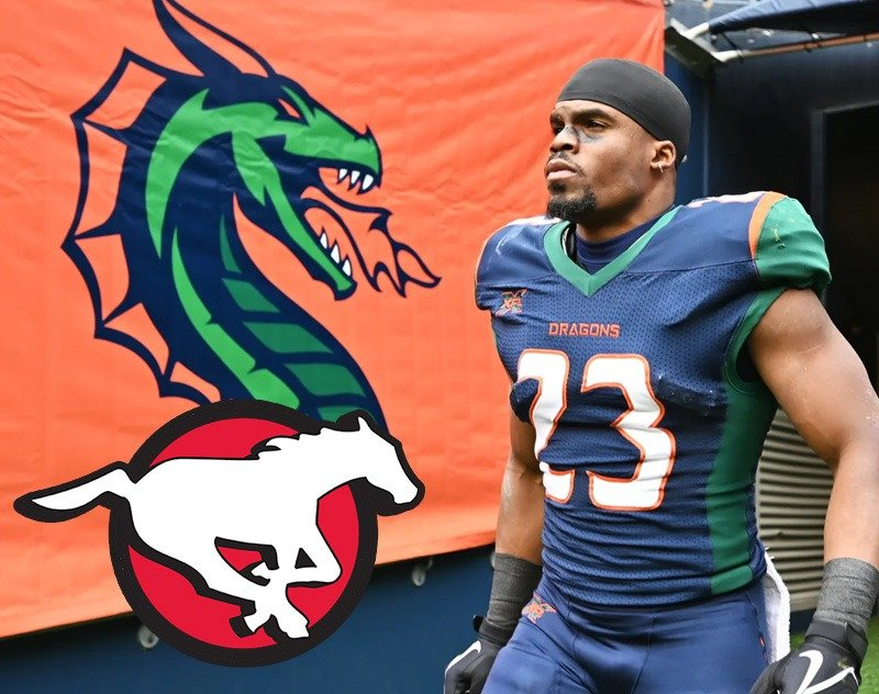 Former Seattle Dragons RB Trey Williams Signs with Calgary Stampeders