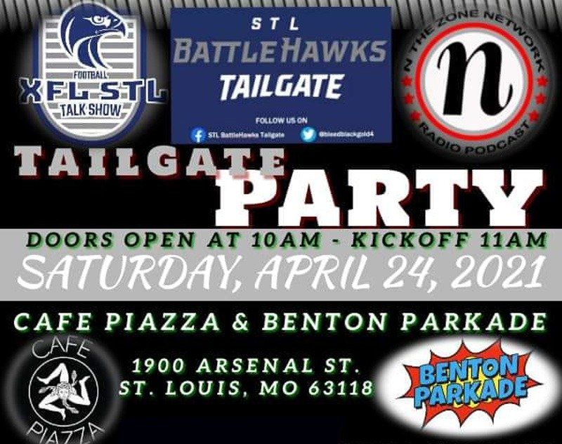 XFL STL Talk Show to Host Tailgate Party April 24th