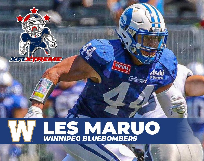 XFLXtreme Xclusive: Winnipeg Blue Bombers Global Draft Pick​ Les Maruo
