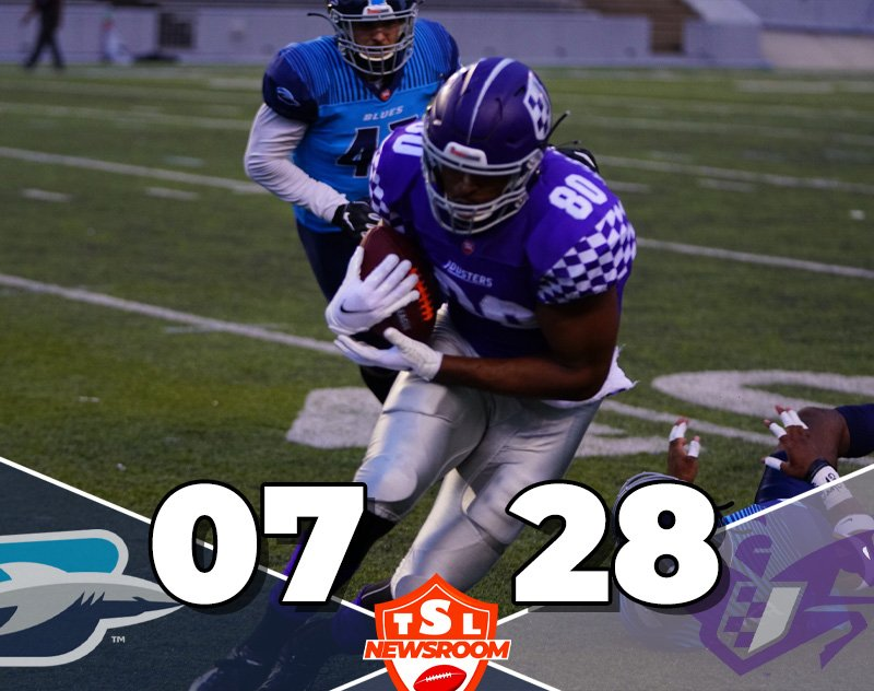 Jousters Snatch Their First Win — Destroy Blues 28-7